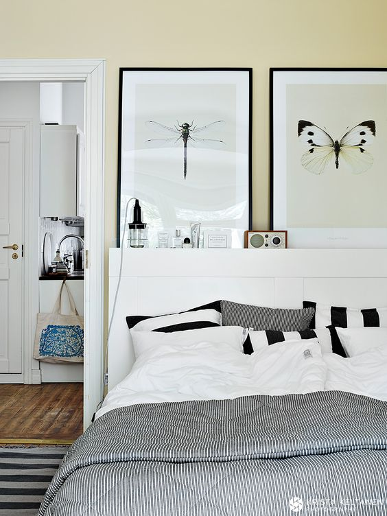 Ikea Brimnes head board Krista Keltanen Blog Bedroom Pinterest Yellow bedrooms, Poster