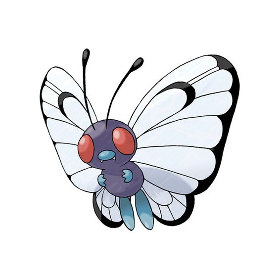 Butterfree | Pokédex ❤ liked on Polyvore featuring pokemon and characters