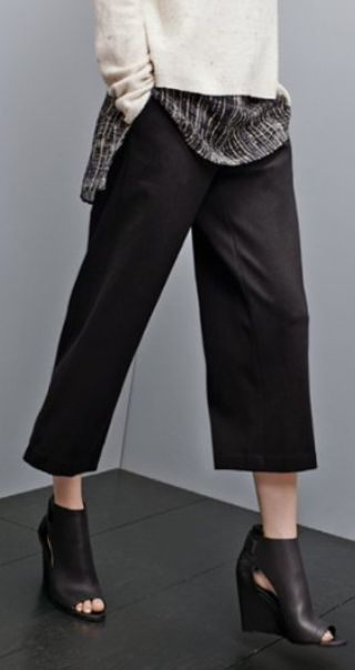 Eileen Fisher crop wide leg trousers