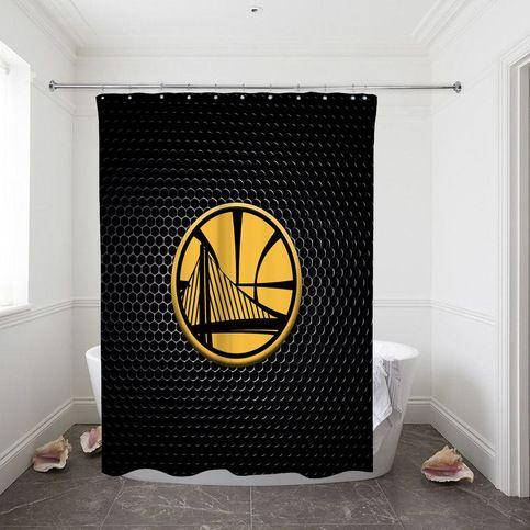 Golden State Warriors Dark Surface Custom Shower Curtain 100