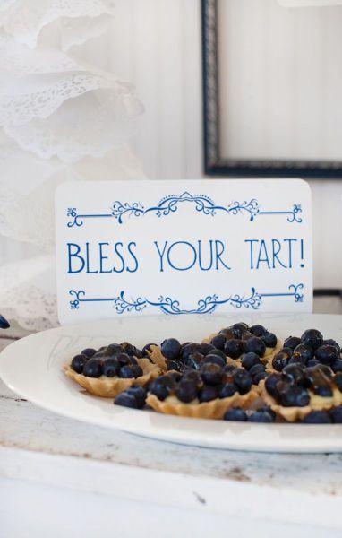 Mini blueberry tarts