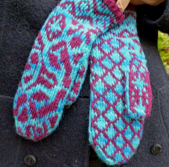 River Dreams Mittens Knitting Pattern Mittens Pdf Fair Isle