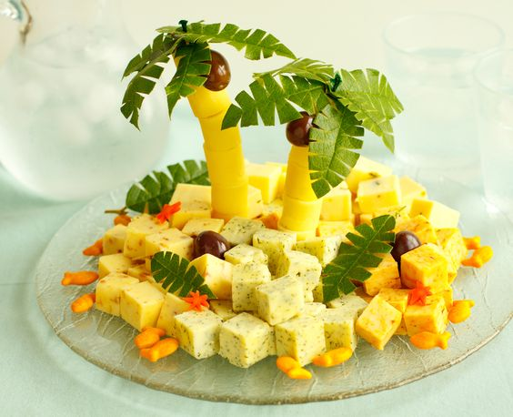 Cheese Island ~ for tropical themed party: