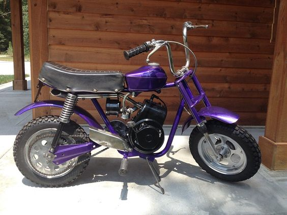 rupp mini bike  hustler in stardust purple