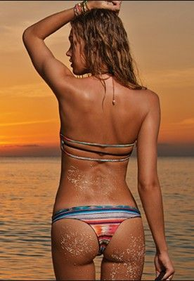 STRAP BACK TOP & ITSY BOTTOM - COZUMEL
