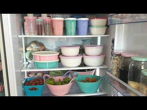 حيل و افكار رائعة لتنظيم الثلاجة و المطبخ بالعلب البلاستيكية Kitchen Organisation Ideas Youtube Kitchen Organisation Home Deco Kitchen