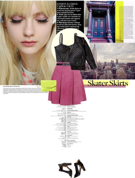 """""""How Do You Style Skater Skirts?"""" by sofiasolfieri on Polyvore"""