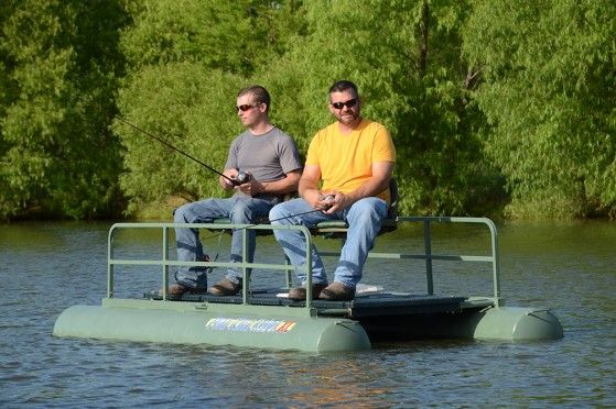 The pond king rebel xl small fishing boat is the two man for Pond fishing boats