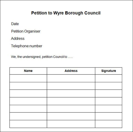 petition blank form - WOW - Image Results petition forms - volunteer timesheet template