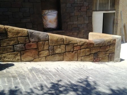 muro imitaci n a piedra hecha con ankare uruk mortero y