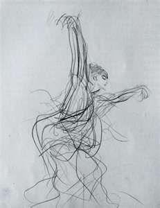 LINE- John Singer Sargent, Sketch of a Spanish Dancer, 1879