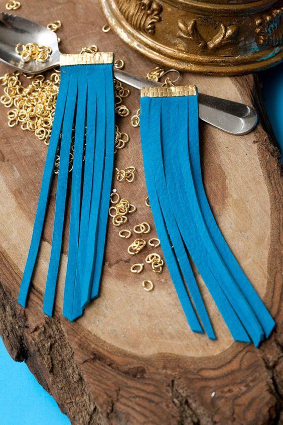 leather fringe earrings