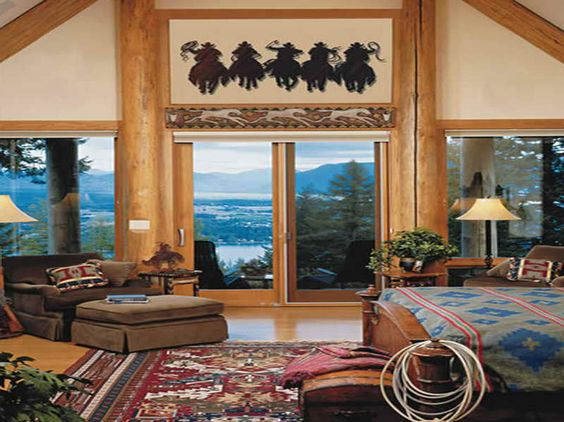 Western Kitchen Decor Western Decorating Ideas With Glass Door The Focal Point Wall Has