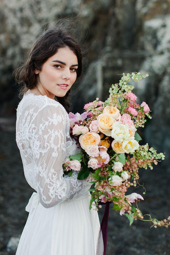 Sally Eagle 2014 Bridal Collection: Weddingflowers Bruidsboeket, Weddingflowers Blooms, Wedding Gown, Lace Wedding, Wedding Flowers, Weddings Bride Bouquet, Bridal Wedding Dresses,  Bridegroom
