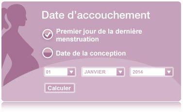 Voici un calculateur de date d'accouchement selon deux méthodes: selon le premier jour des dernières menstruations et selon la date de conception. #grossesse