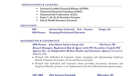 Statistician Resume Cover Letter -    wwwresumecareerinfo - certified financial planner resume