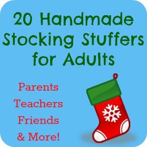 20 Handmade Stocking Stuffers For Adults Homemade The