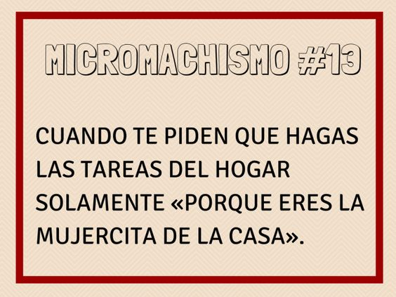 Micromachismo #13