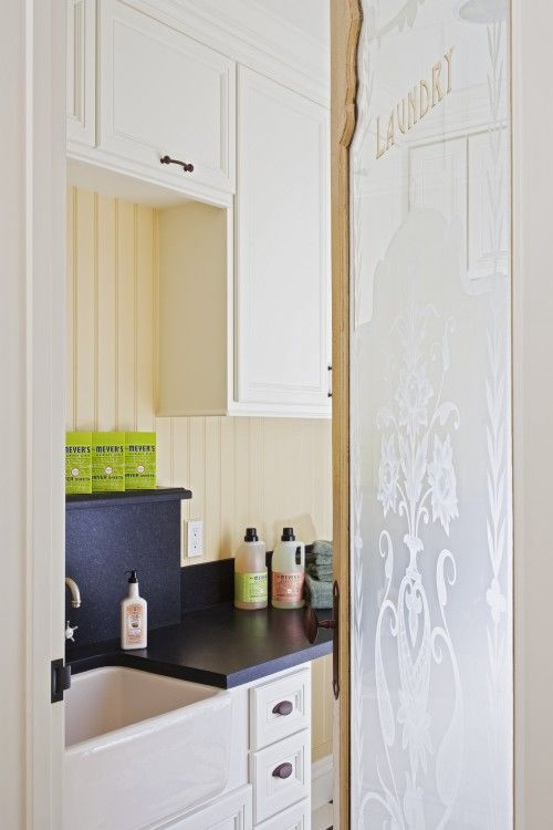 In a small house all the doors off a hallway could look like this...sticky paper, stencils...pretty, bright and no more dark hallways!
