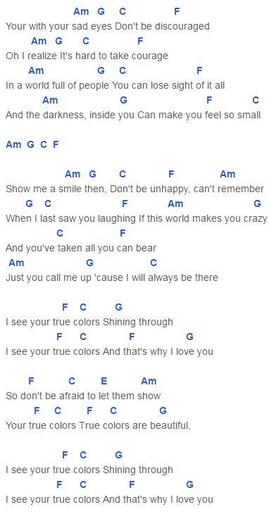 True Colors Chords Cap... Anna Kendrick Chords