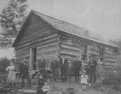 Log Cabin Pictures 1800s All About History People