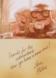 I totally cried just looking at this. Cuts to the core every time!!! Oh gosh I love Pixar...
