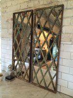 Harlequin Style Antique Window Frame Mirror from AldergateHome.Com