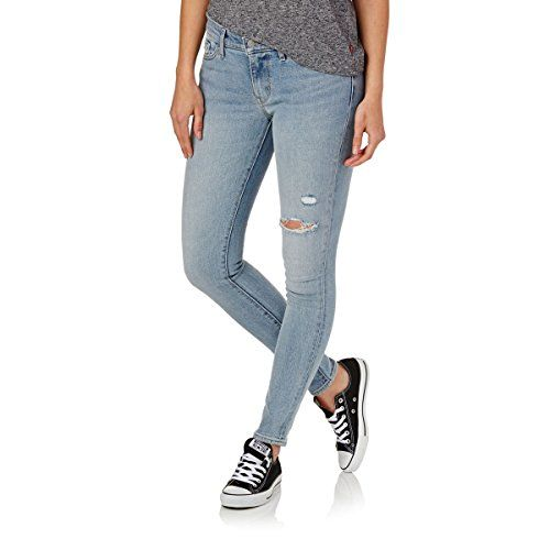 Fly Year-uk Women Hollow Out Ripped Hole Distressed Jeans Boyfriend Style Tight Pants