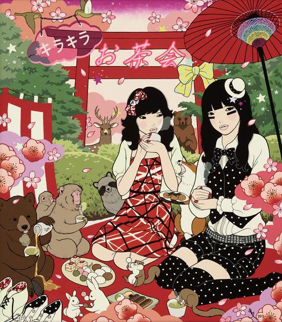 """""""キラキラお茶会/KIRA KIRA OCHAKAI (Twinkle Twinkle Tea Party)"""", Yumiko Kayukawa"""