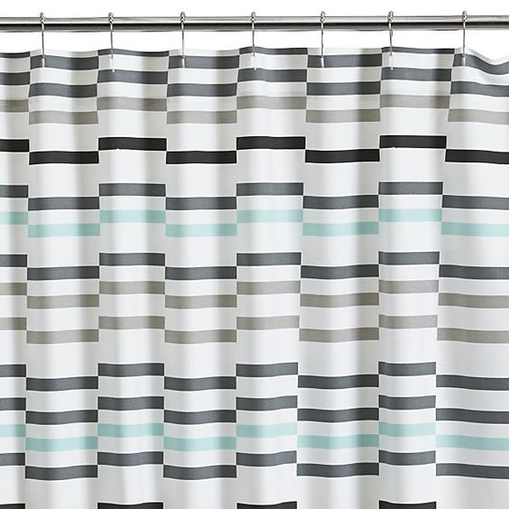 Shower Curtains crate and barrel shower curtains : Newport Seafoam Shower Curtain | Crate and Barrel | Bathroom ...