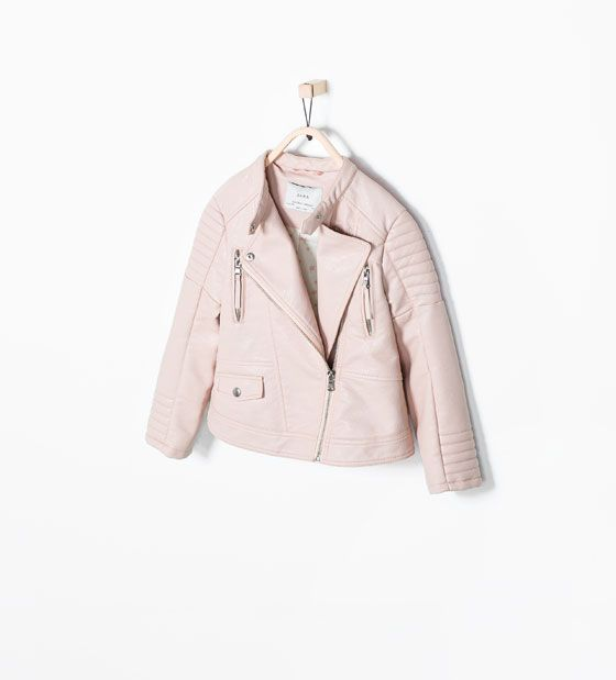 PINK FAUX LEATHER JACKET from Zara | SS2015 | Pinterest | Kid ...
