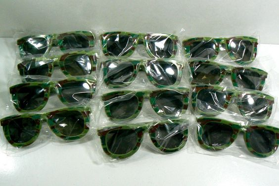 12 PC 1 DOZ Kids Army Camouflage Sunglasses Dark Lenese Party Favor New | eBay
