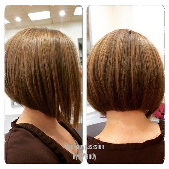 Classic una línea de corte de pelo bob de formas de cara redonda