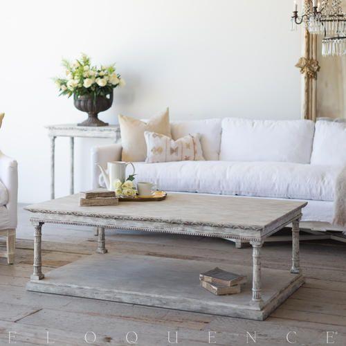 Swedish living room decor. Gustav coffee table. Swedish decor inspiration, French and Gustavian Design Style from Eloquence. #swedish #interiordesign #frenchcountry #gustavian #nordic #decoratingideas #whitedecor #eloquence #furniture