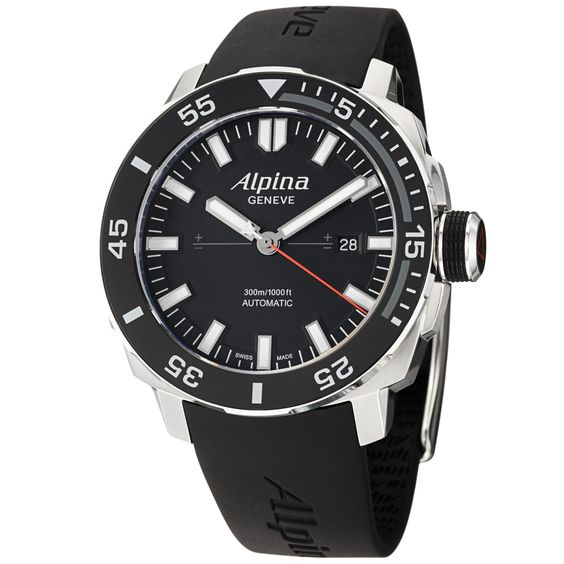 Alpina Men's 'Adventure' Dial Strap Automatic Watch