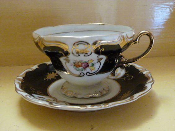 Vintage Tea Cup & Saucer by CornerHouse1875 on Etsy