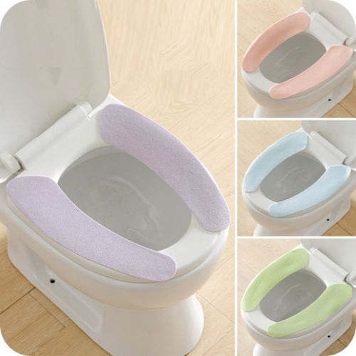 2x Bathroom Warmer Toilet Seats Closestool Washable Soft Seat Cover Pad Cushion Review Toilet Covers Toilet Seat Cover Toilet Seat