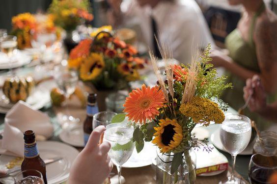 my fall wedding <3 Reception homemade centerpieces. Pulz/Ball 2011