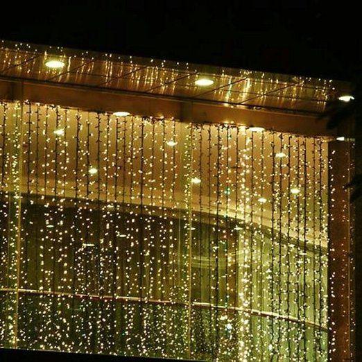 SOLMORE 3m x 3m 300 LED Lichterkette Vorhang Licht Schnur Eiszapfen Eisregen für Innen Weihnachten Party(Weiß): Amazon.de: Beleuchtung