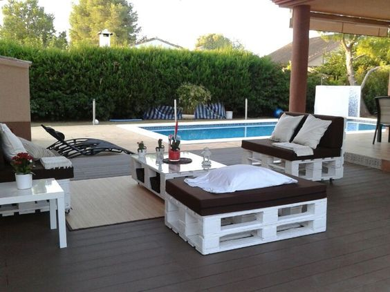 Muebles palets jardin casero 20170807024437 for Muebles chill out baratos