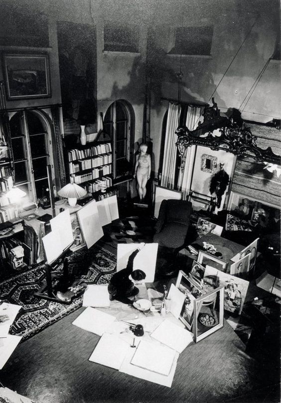 TOVE JANSSON (1914-2001) IN HER ATELIER-HOME, BY UNKNOWN PHOTOGRAPHER: