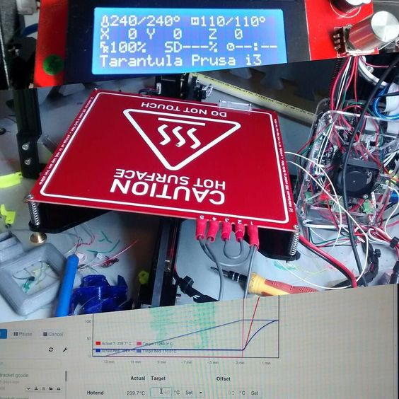 Something we liked from Instagram! Makertum MK1 mains heated bed 0 to 110c super fast #3dprinting #3dprinter #tevo tarantula upgrades @makertum by katzworld check us out: http://bit.ly/1KyLetq