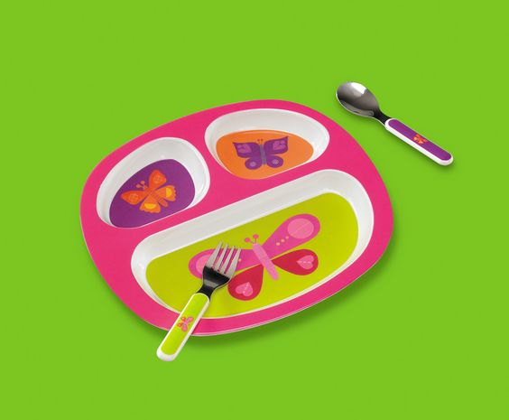 3-Piece Divided Plate Gift Set