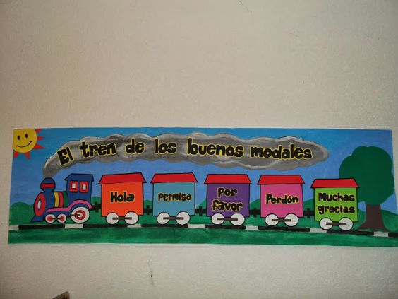 Decoraciones infantiles the teacher el tren de los buenos for Decoracion para puertas de salon de clases
