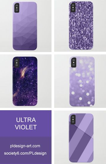 Trendy Pantone color of year 2018 Ultra violet purple sparkles, bokeh, geometric lines, mesh, abstract galaxy and more iPhone X 8 7 6 & Samsung Galaxy S8 S7 Cases  by #PLdesign #style #fashion #accessories @Society6
