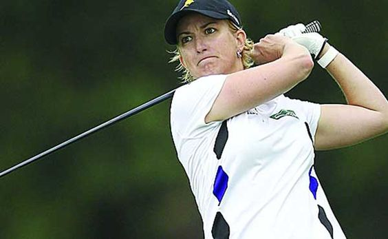 "Karrie Webb rolled in a half dozen birdies on her final eight holes as she came from behind to capture the LPGA Tour s Founders Cup on Sunday.  The 39-year-old Australian closed with a nine-under 63 to finish with a 19-under 269 and win this event for the second time in three years.  ""I thought I would be in a playoff not standing here the winner,"" said Webb.  This was Webb s second win of the year, and 41st of her career on the LPGA Tour."