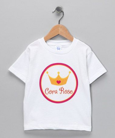 Take a look at this Pink Crown Personalized Tee - Toddler & Kids by Tickled Pink NOLA on #zulily today!