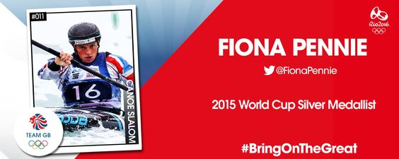 The legend of canoe slalom Fiona Pennie is going to the Rio 2016 Olympic Games.