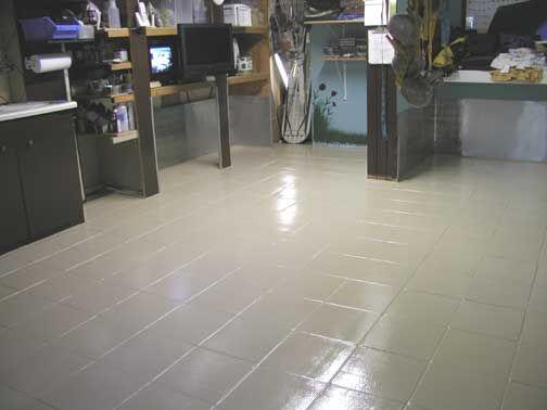 Epoxy Painted Tile Floor Floors Pinterest Epoxy