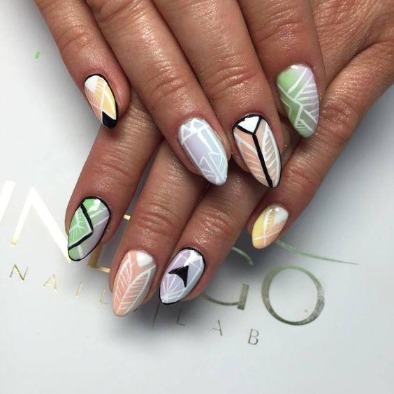 by Basia Madeleine Studio :) Follow us on Pinterest. Find more inspiration at www.indigo-nails.com #nailart #nails #indigo #summer #pastel
